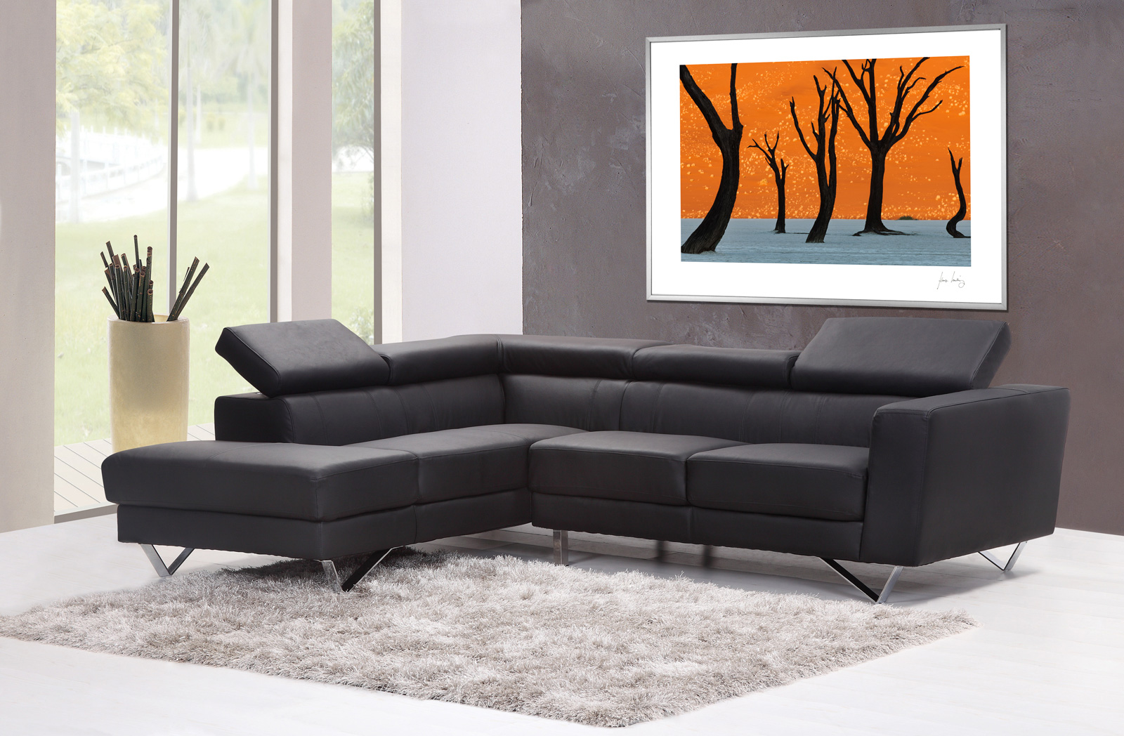 Lanting Ghost Trees Fine Print Living Room