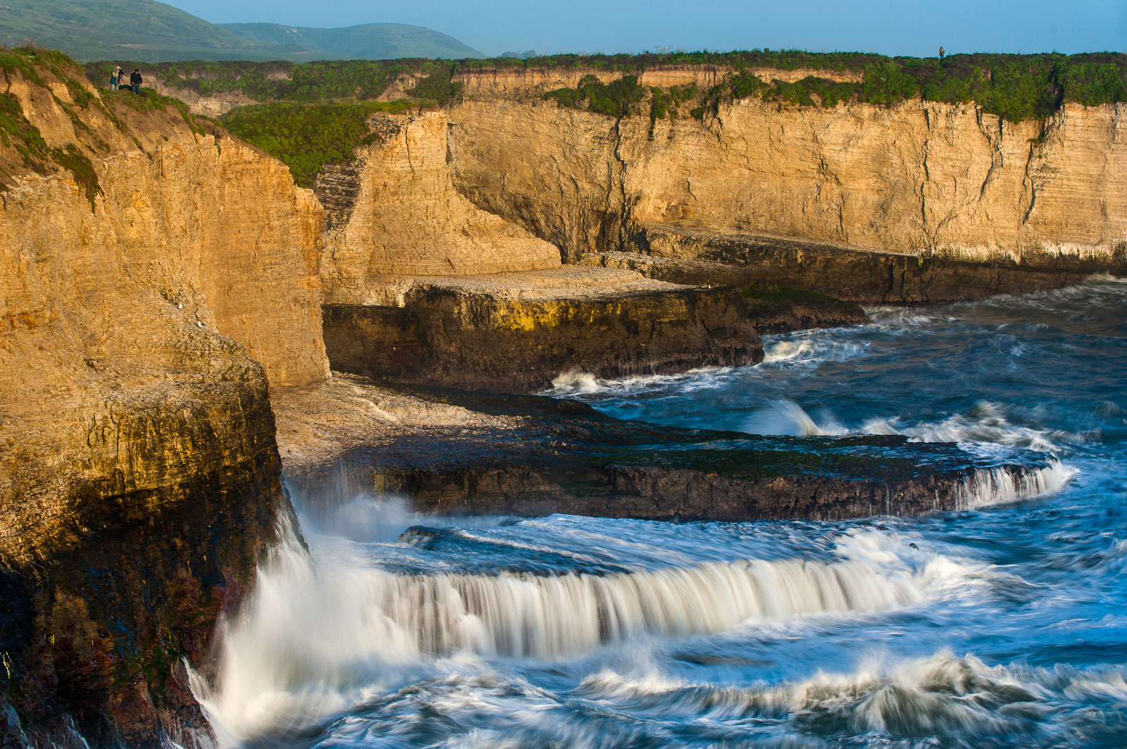 Coastline and storm surf, Sharktooth Cove, Monterey Bay, California