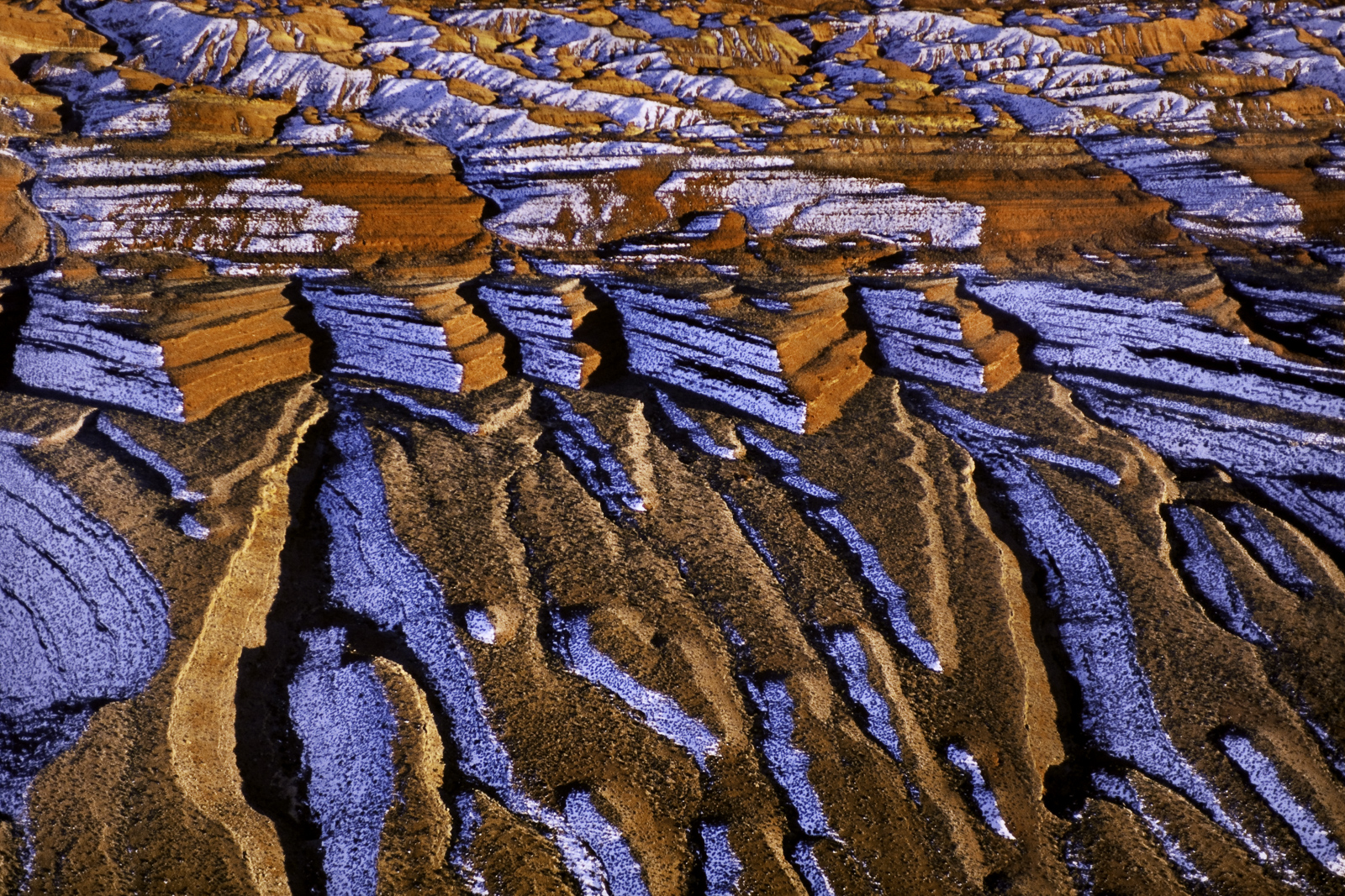 Sandstone and snow, Comb Ridge, Utah, USA