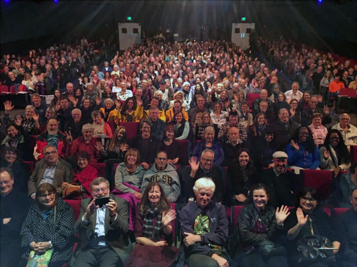 Audience at Frans Lanting and Christine Eckstrom's into Africa presentation, Rio Theater, Santa Cruz, California, USA
